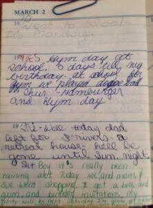 Diary Mar 2