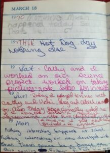 Diary March 18